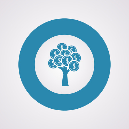 bank branch: vector illustration of business and finance icon tree coin
