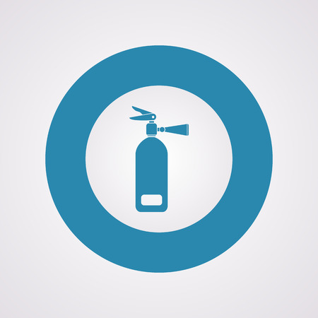 precautions: vector illustration of modern b lack icon fire extinguisher Illustration