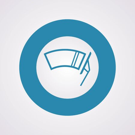 windscreen: Vector illustration of modern auto repair icon