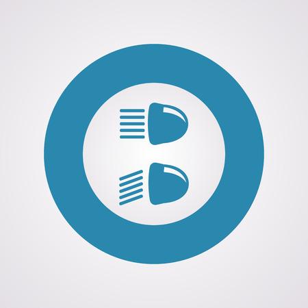 Vector illustration of modern auto repair icon