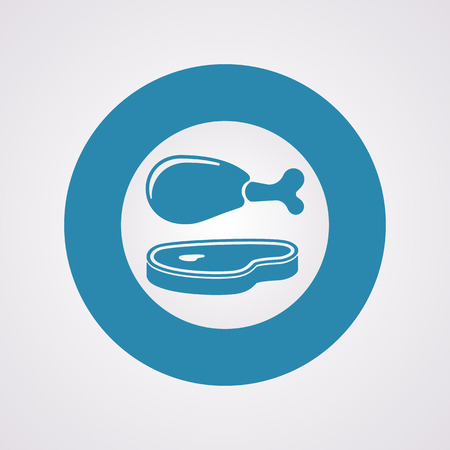 roast lamb: Vector illustration of food icon