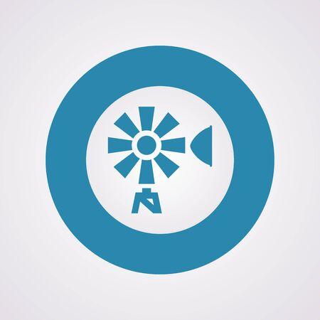 wind wheel: Vector illustration of modern farm icon