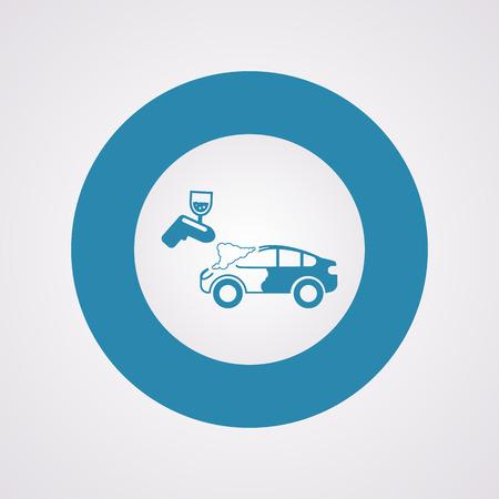 aerografo: Vector illustration of modern auto repair icon