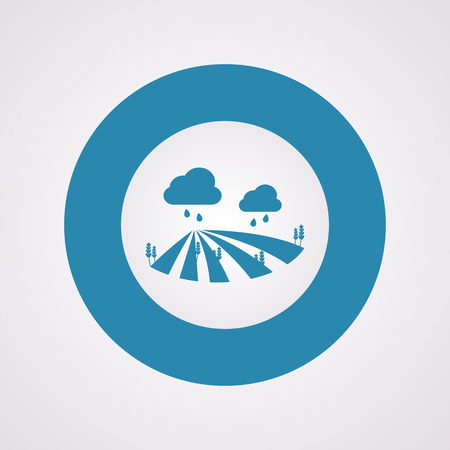 agrarian: Vector illustration of modern farm icon