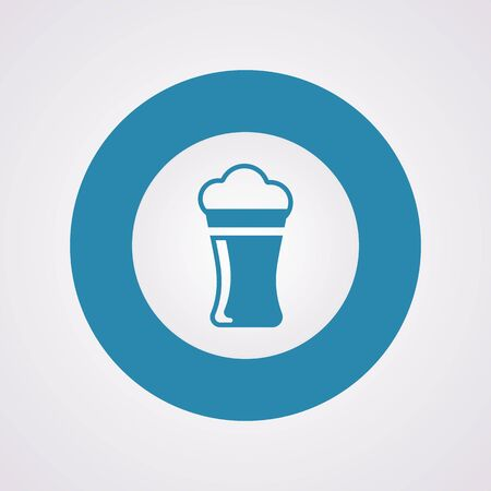 draught: Vector illustration of food icon