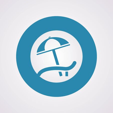 recliner: Vector illustration of travel and vacation icons