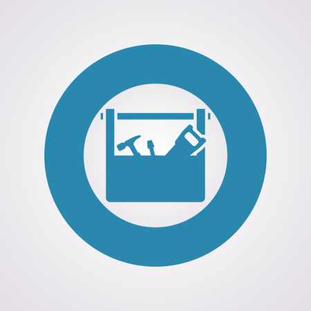toolbox: illustration of vector building modern icon in design Illustration