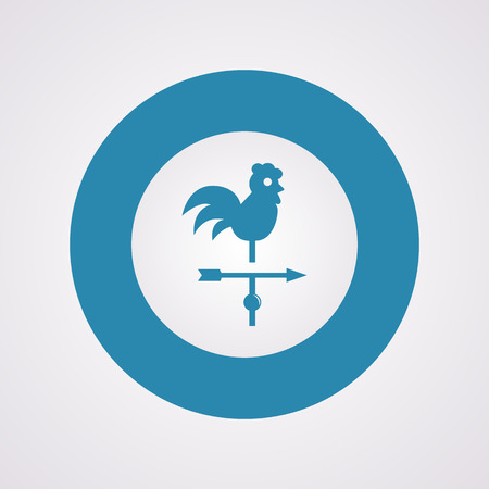 weathercock: Vector illustration of modern farm icon