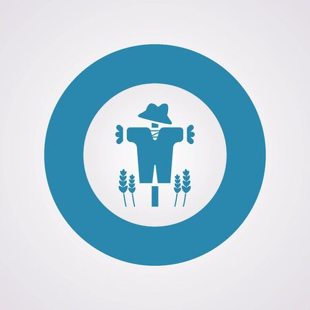 fall protection: Vector illustration of modern farm icon