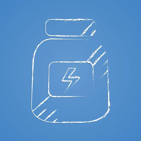 nonalcoholic: vector illustration of modern silhouette icon energy