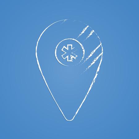 icon hospital: vector illustration of modern b lack icon hospital Illustration