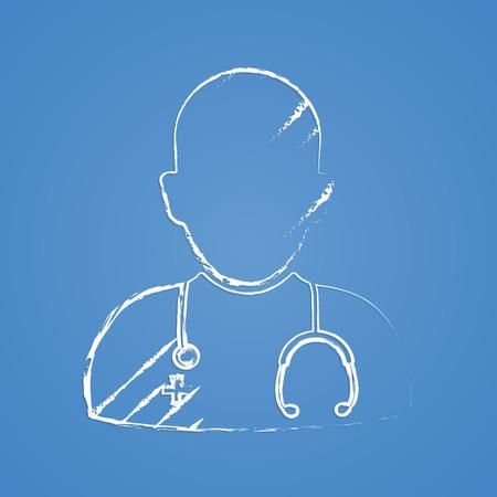 sick malady: vector illustration of modern b lack icon doctor Illustration