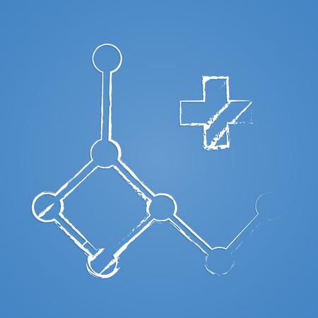 �cido: ilustraci�n vectorial de �cido moderna b falta icono desoxirribonucleico Vectores