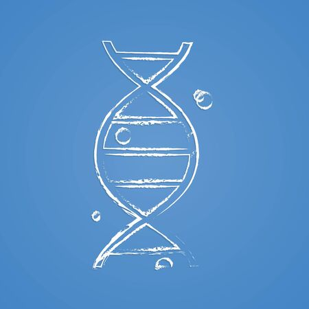 deoxyribonucleic acid: vector illustration of business and finance icon dna