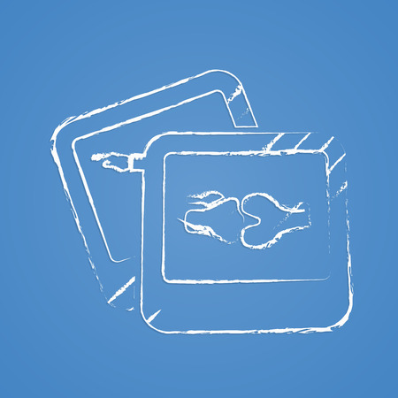 patella: vector illustration of modern b lack icon bone Illustration