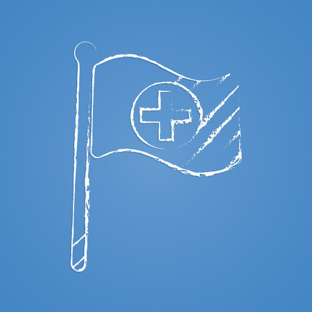 health facility: vector illustration of modern b lack icon hospital Illustration