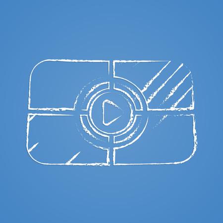 photo real: vector illustration of modern icon frame cinema Illustration