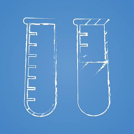 toxic substance: vector illustration of modern b lack icon test-tube Illustration