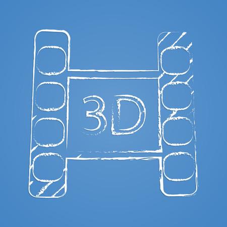 photo slide: vector illustration of modern icon frame cinema Illustration