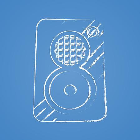subwoofer: vector illustration of modern b lack icon subwoofer