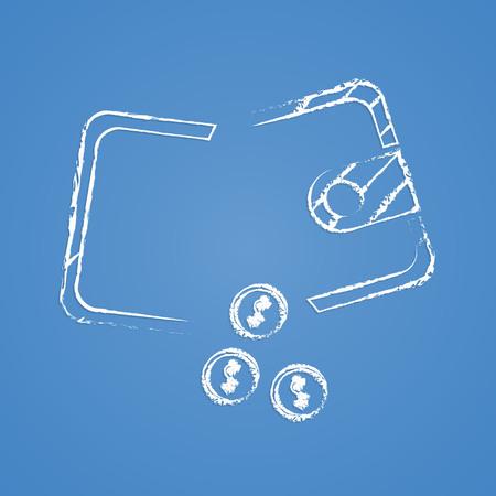 broken down: vector illustration of business and finance icon purse broken