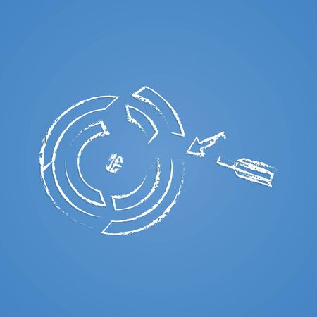 advantages: vector illustration of business and finance icon target