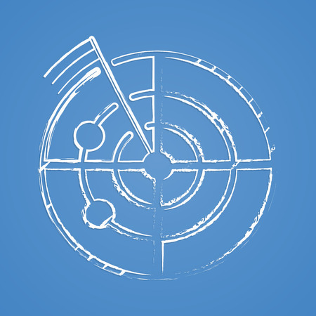 barbwire: vector illustration of modern b lack icon barbed wire Illustration