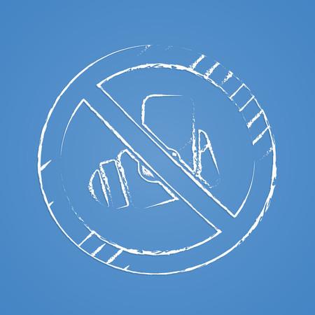 vector illustration of modern b lack icon fire extinguisher Illustration