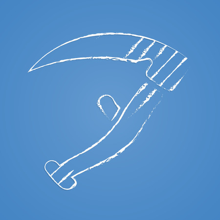 grass blades: Vector illustration of modern farm icon