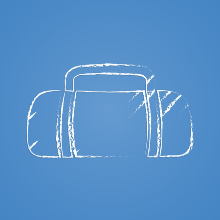 duffle: vector illustration of business and finance icon bag Illustration
