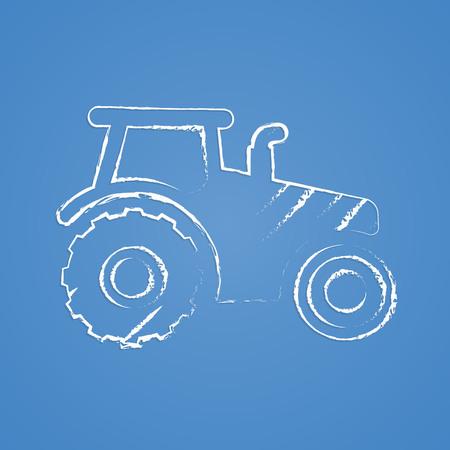 horticulturist: Vector illustration of modern farm icon