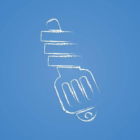 ampere: Vector illustration of modern auto repair icon