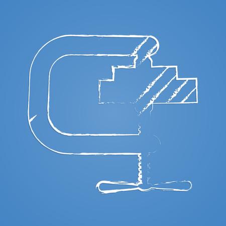 vice grip: illustration of vector building modern icon in design Illustration
