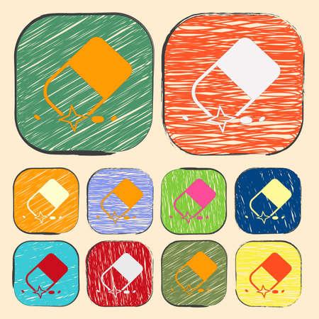 erased: illustration of vector office modern icon in design