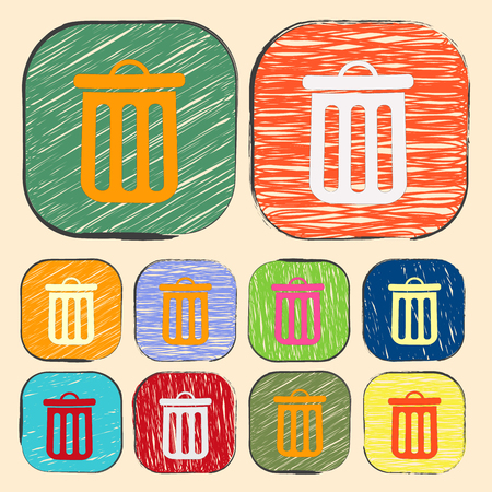 trashcan: illustration of business and finance icon trashcan