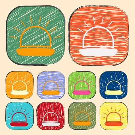ampere: vector illustration of modern b lack icon siren