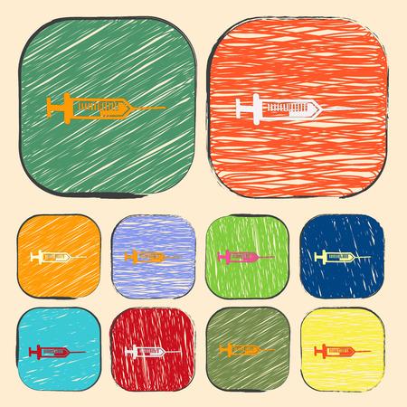 provexemplar: vector illustration of modern b lack icon syringe