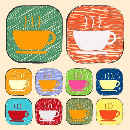 coffe break: illustration of vector office modern icon in design