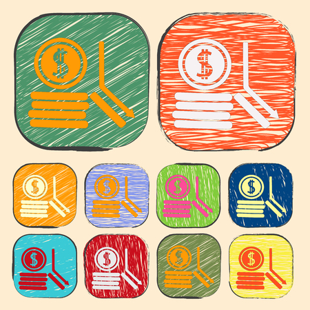 dollar coins: vector illustration of business and finance icon dollar coins