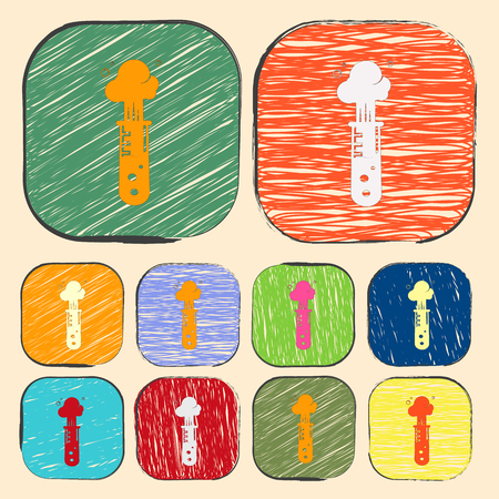 drug discovery: vector illustration of modern b lack icon test-tube Illustration