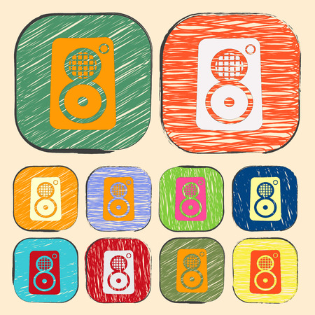 boombox: vector illustration of modern b lack icon subwoofer