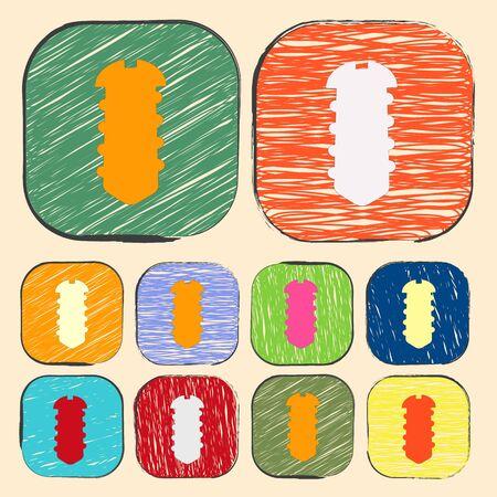 mend: illustration of vector building modern icon in design Illustration