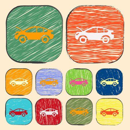 auto repair: Vector illustration of modern auto repair icon