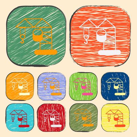 elevate: illustration of vector building modern icon in design Illustration