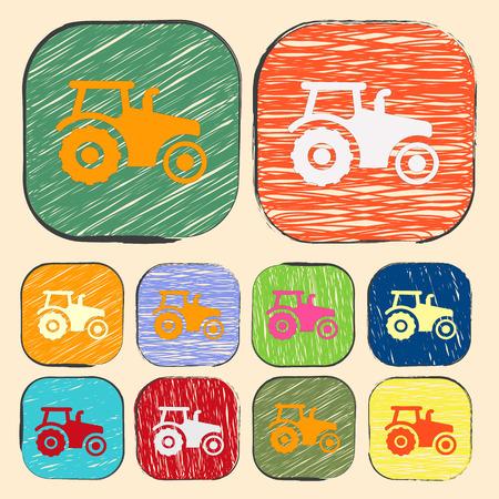 agronomy: Vector illustration of modern farm icon