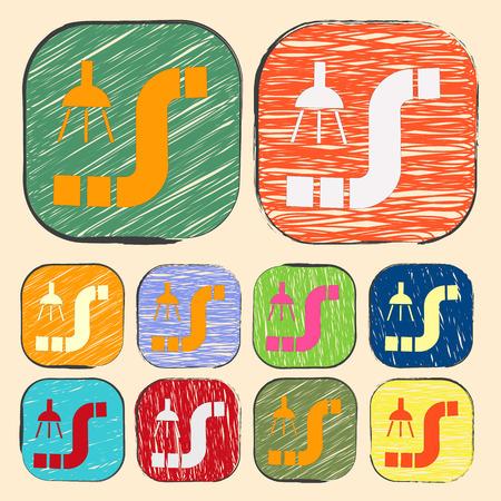 casing: illustration of vector building modern icon in design Illustration