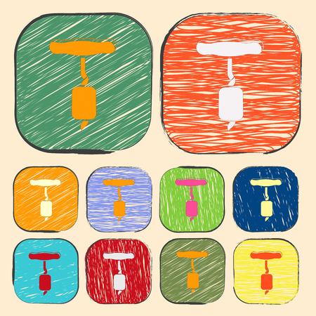 bar tool set: Vector illustration of food icon