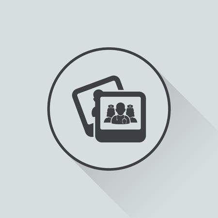 adviser: vector illustration of modern b lack icon personnel medical