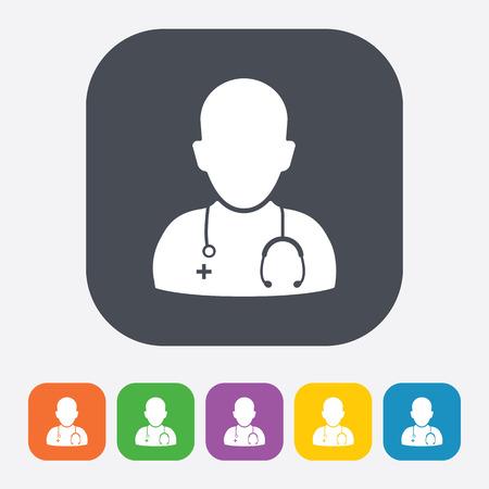 malady: vector illustration of modern b lack icon doctor Illustration