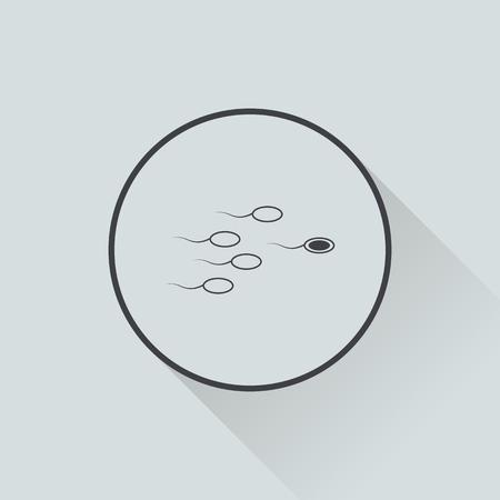 spermatozoa: vector illustration of modern b lack icon sperm